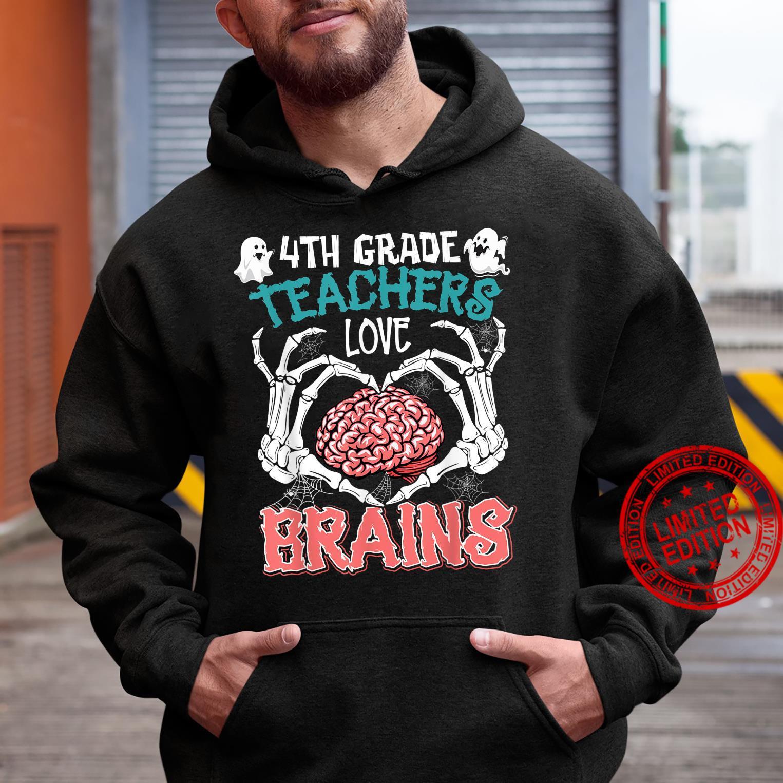 4th Grade Teachers Love Brains Teacher Halloween Costumes Shirt hoodie