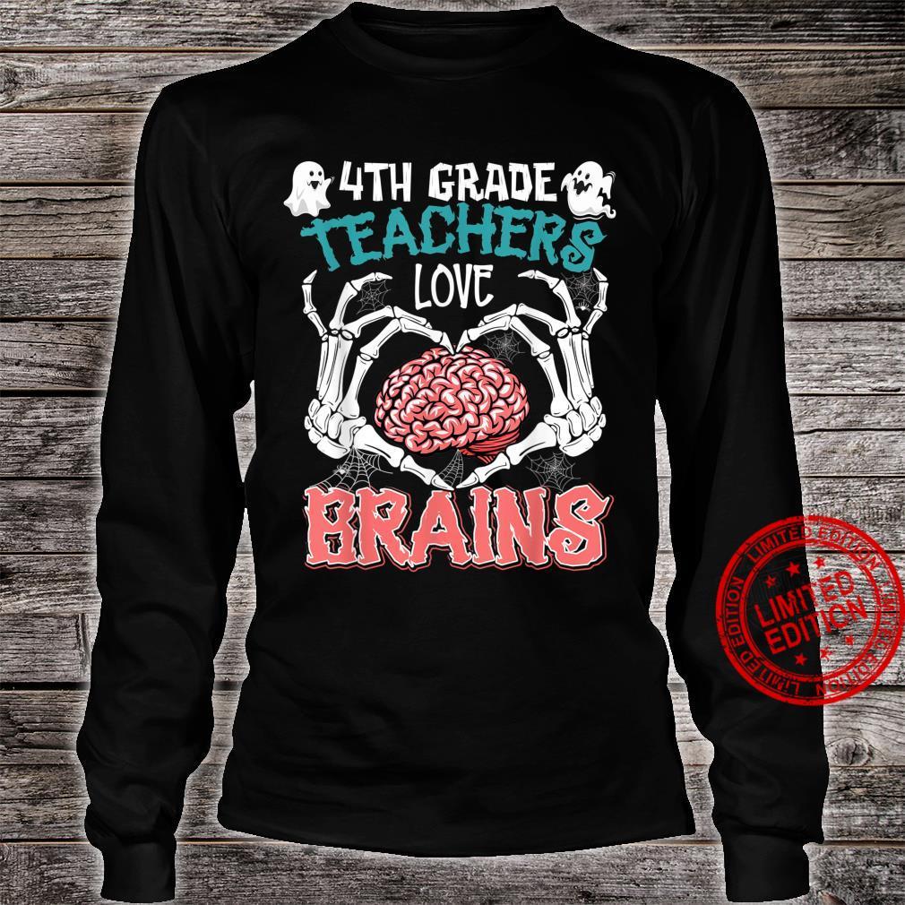 4th Grade Teachers Love Brains Teacher Halloween Costumes Shirt long sleeved