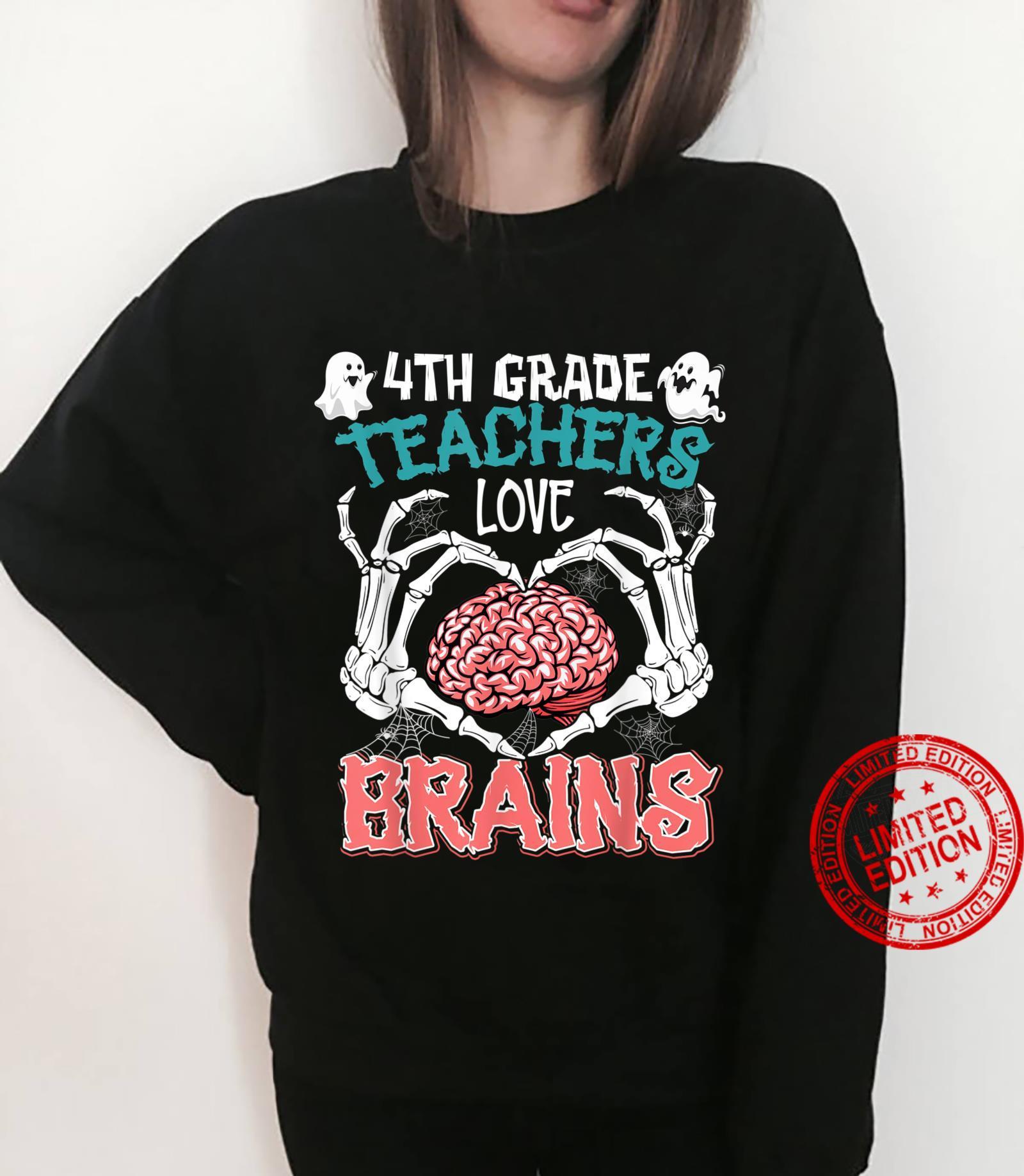 4th Grade Teachers Love Brains Teacher Halloween Costumes Shirt sweater