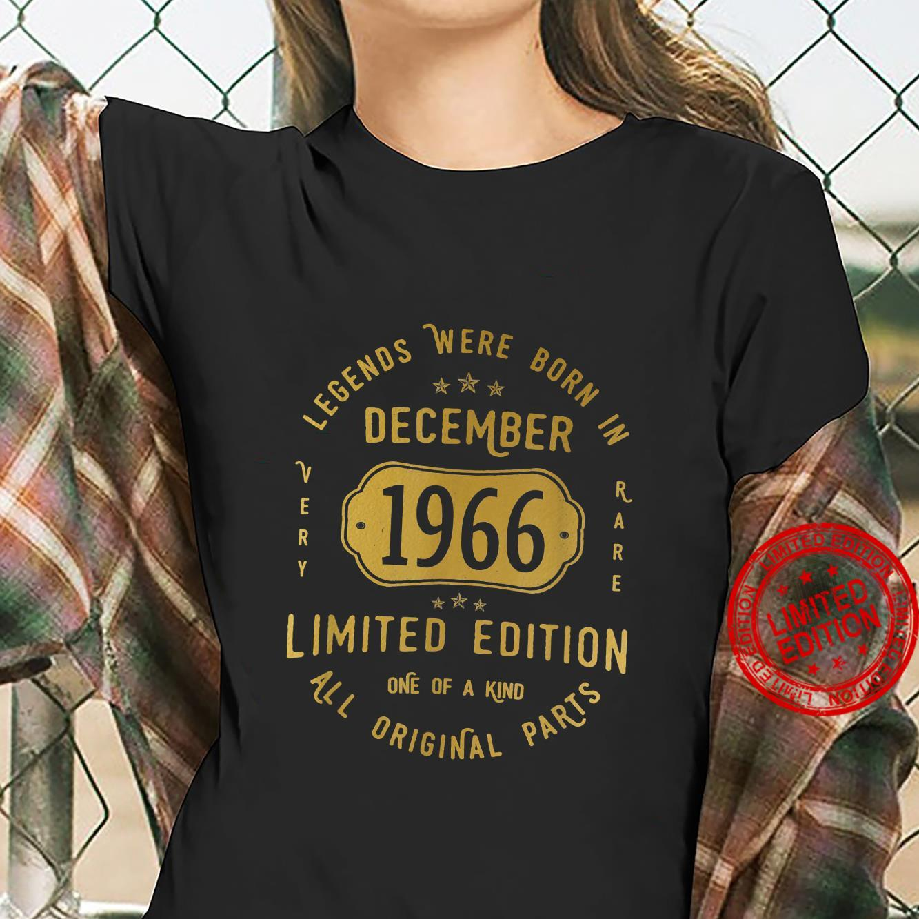 55 Geburtstag Mann Frau Legends Were Born In December 1966 Shirt ladies tee