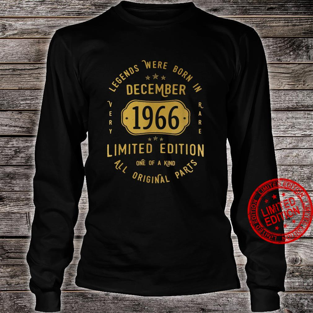 55 Geburtstag Mann Frau Legends Were Born In December 1966 Shirt long sleeved