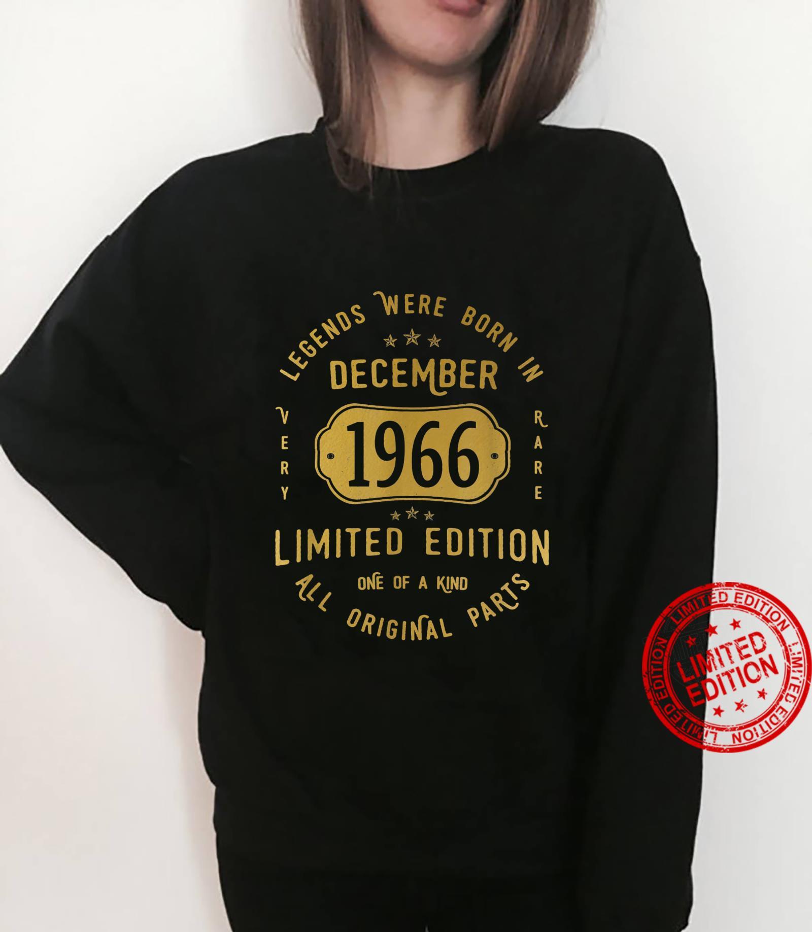 55 Geburtstag Mann Frau Legends Were Born In December 1966 Shirt sweater