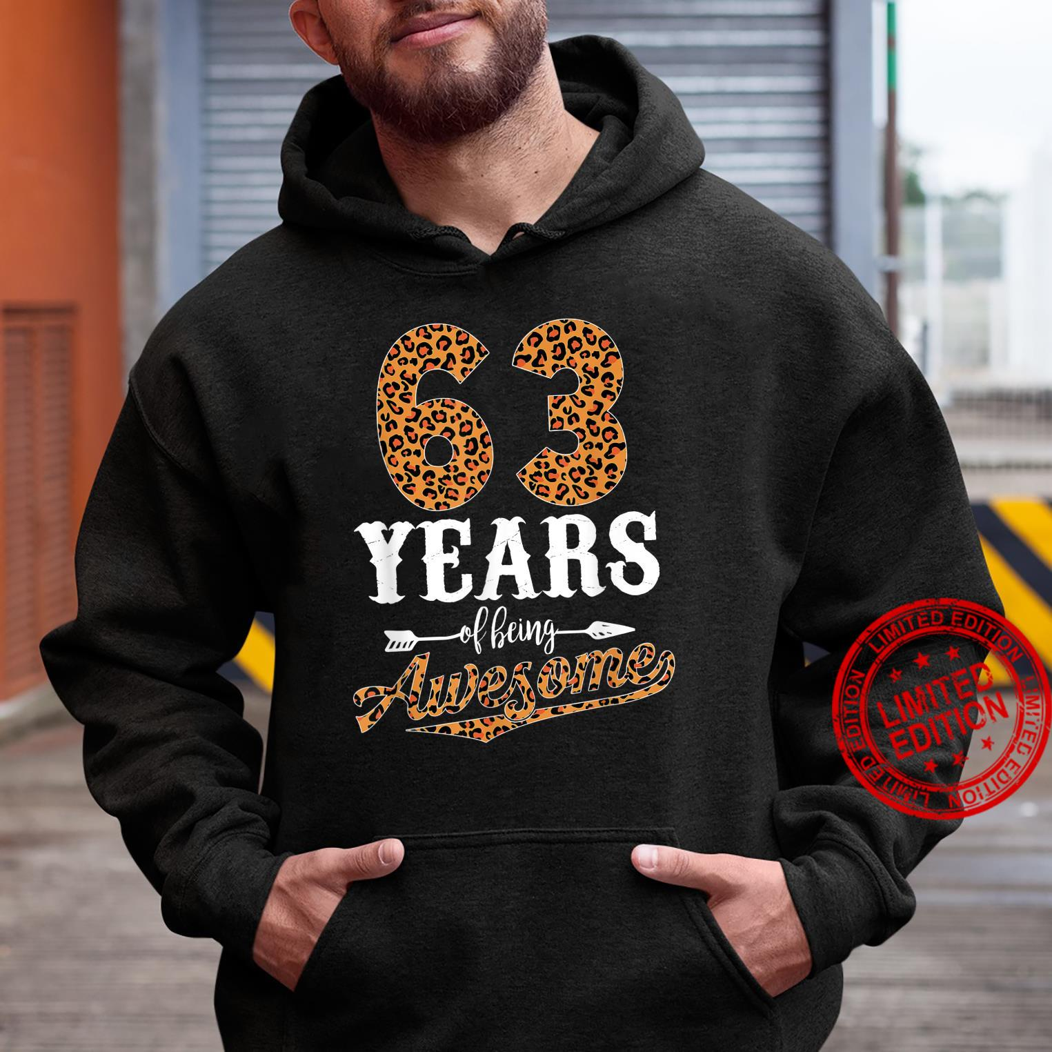 63 Years Of Being Awesome Leopard 63rd Birthday Girl Shirt hoodie