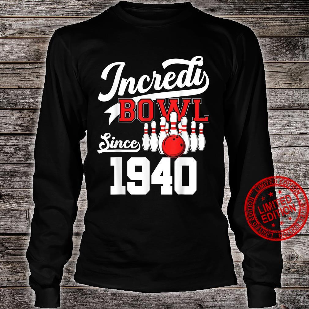 81 Year Old Bowler Bowling 1940 81st Bowler Birthday Shirt long sleeved