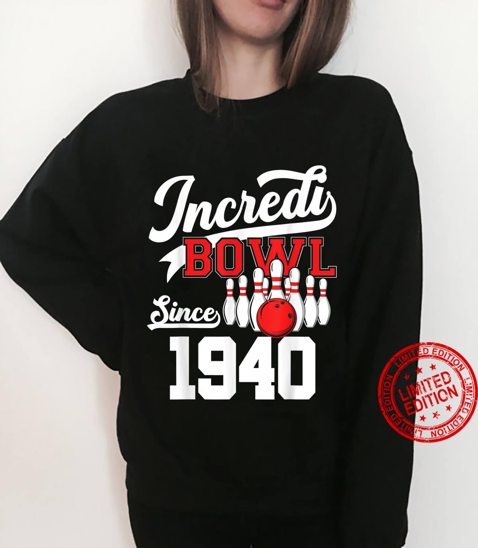 81 Year Old Bowler Bowling 1940 81st Bowler Birthday Shirt sweater