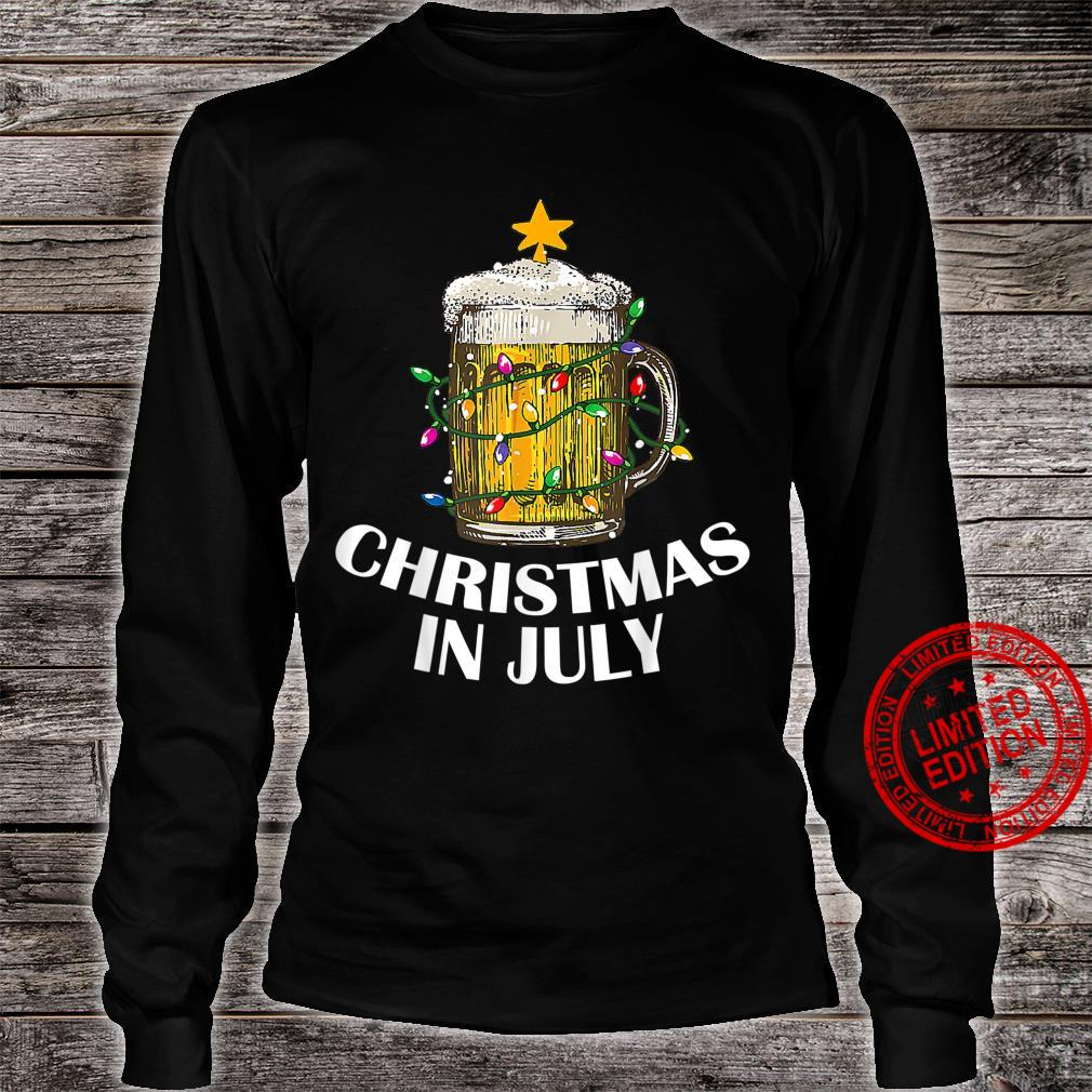 Awesome Beer Xmas Tree Summer For Christmas In July Shirt long sleeved