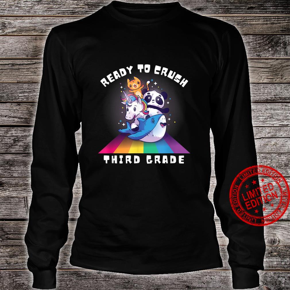 Back to school Ready to Crush Third Grade Novelty Shirt long sleeved