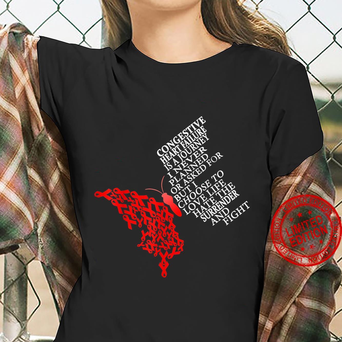 Congestive Heart Failure Warrior Shirt ladies tee