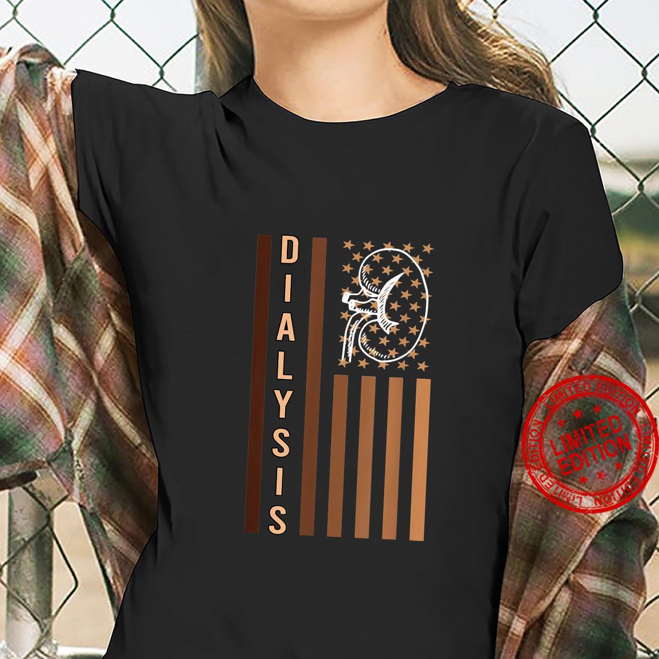 Dialysis Us Flag for Patriotic Dialysis Technician Shirt ladies tee
