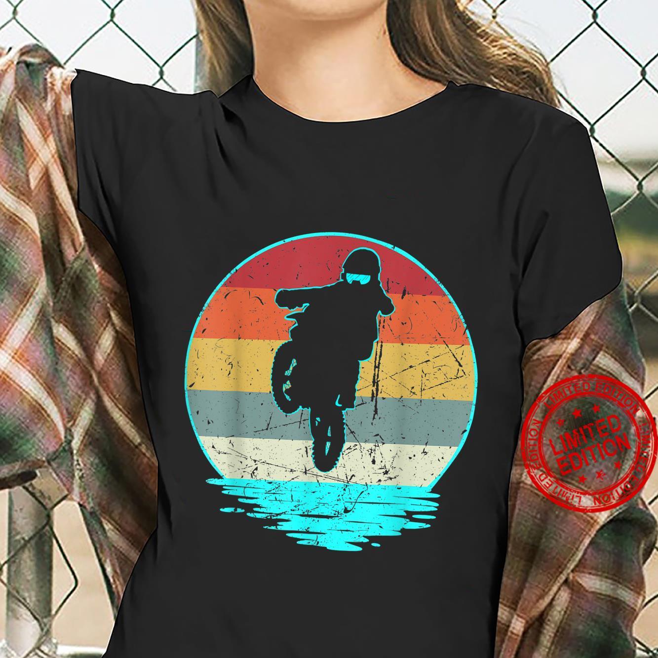 Dirt Biking Shirt Dirt Biker im VintageRetroStil Shirt ladies tee