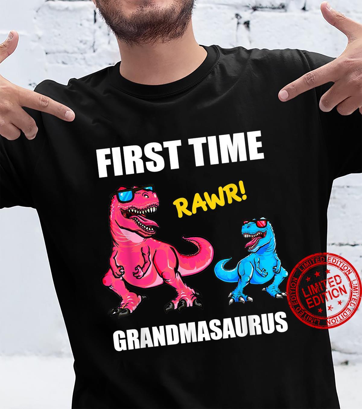 First Time Grandma 2022 Shirt, TRex Promoted To Grandma 2022 Shirt