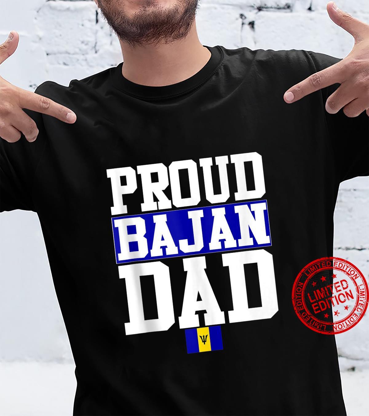 Flagcastle Proud Bajan Dad Fathers Day Barbados Flag Shirt