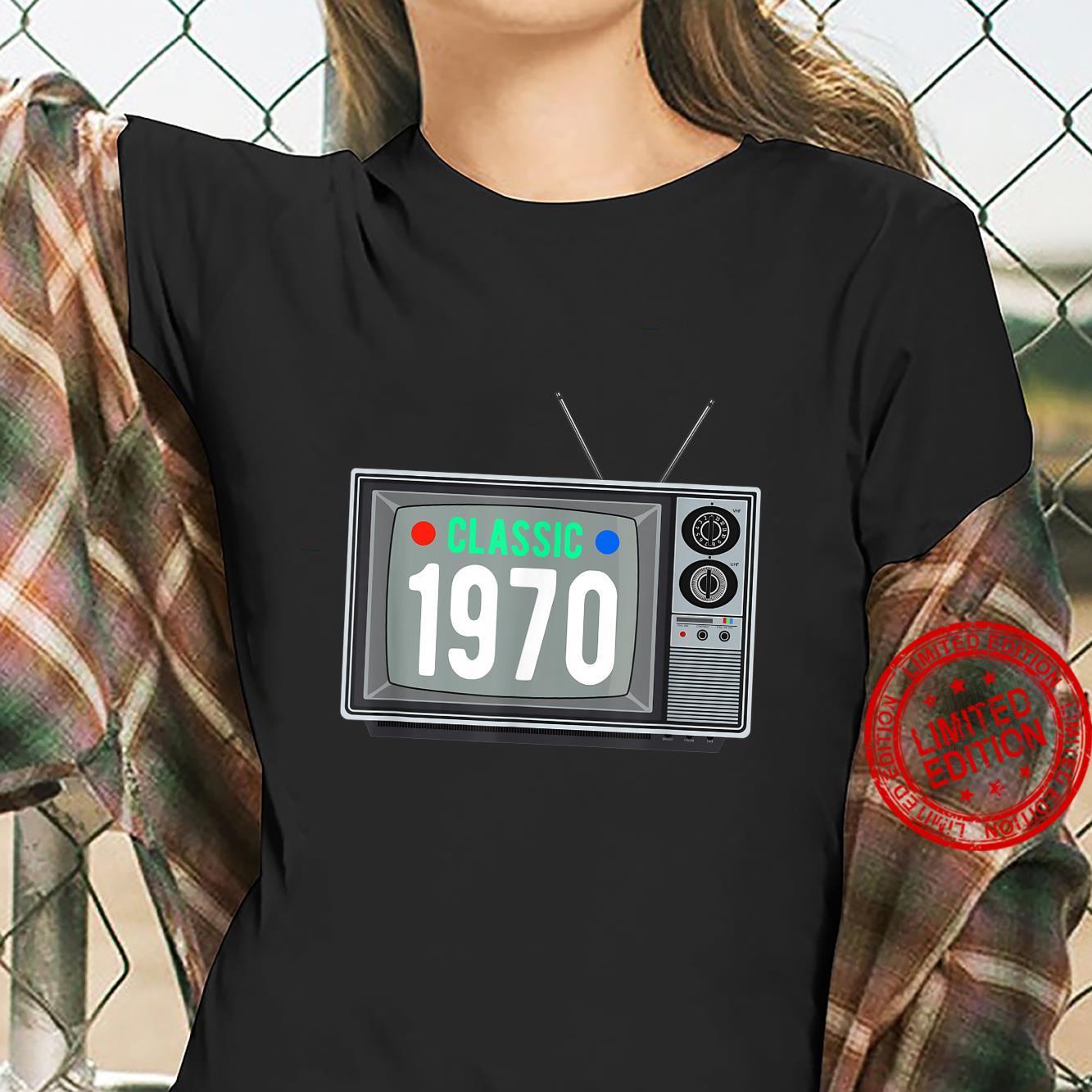 Funny Classic 1970 Shirt Vintage TV 51st Birthday Shirt Shirt ladies tee