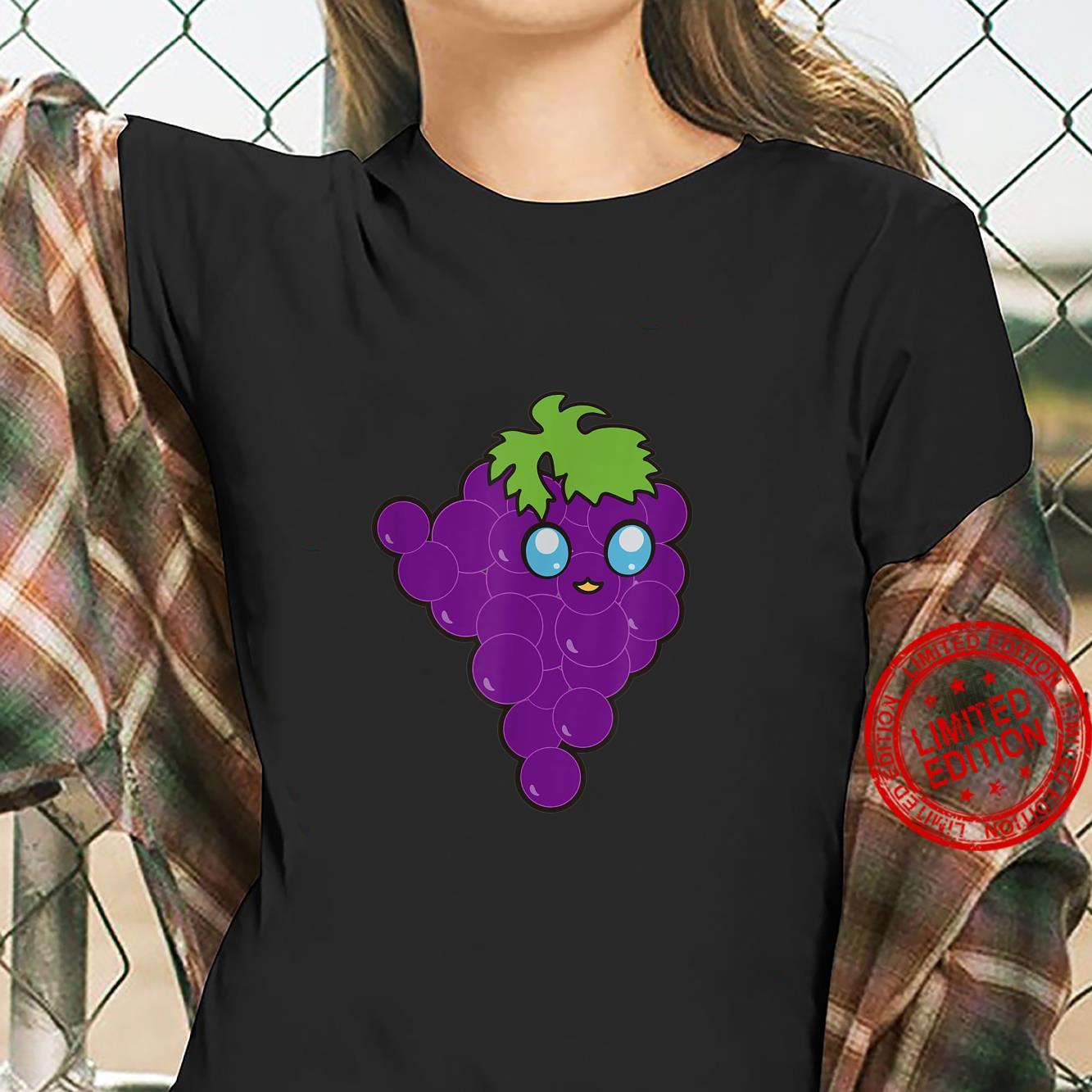 Funny Grapes Vegan Fruits Foodies Puns Gag Humor Shirt ladies tee