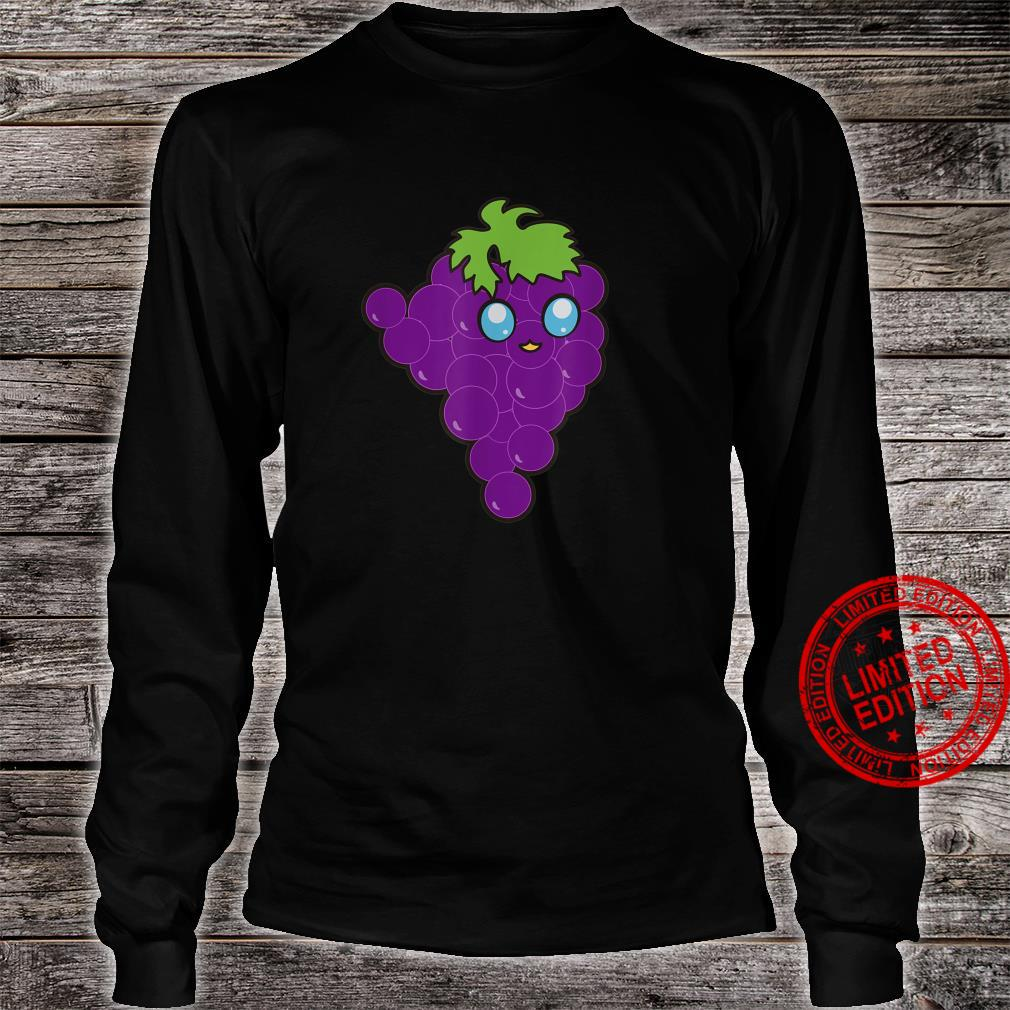 Funny Grapes Vegan Fruits Foodies Puns Gag Humor Shirt long sleeved
