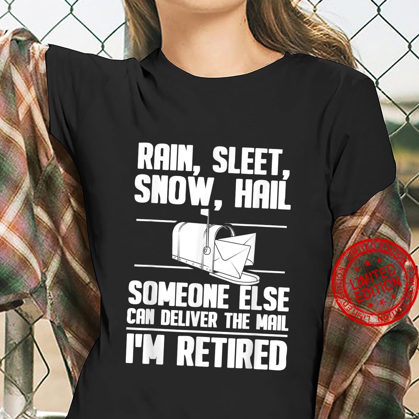 Funny Postal Worker Retirement Design For Mailman Shirt ladies tee