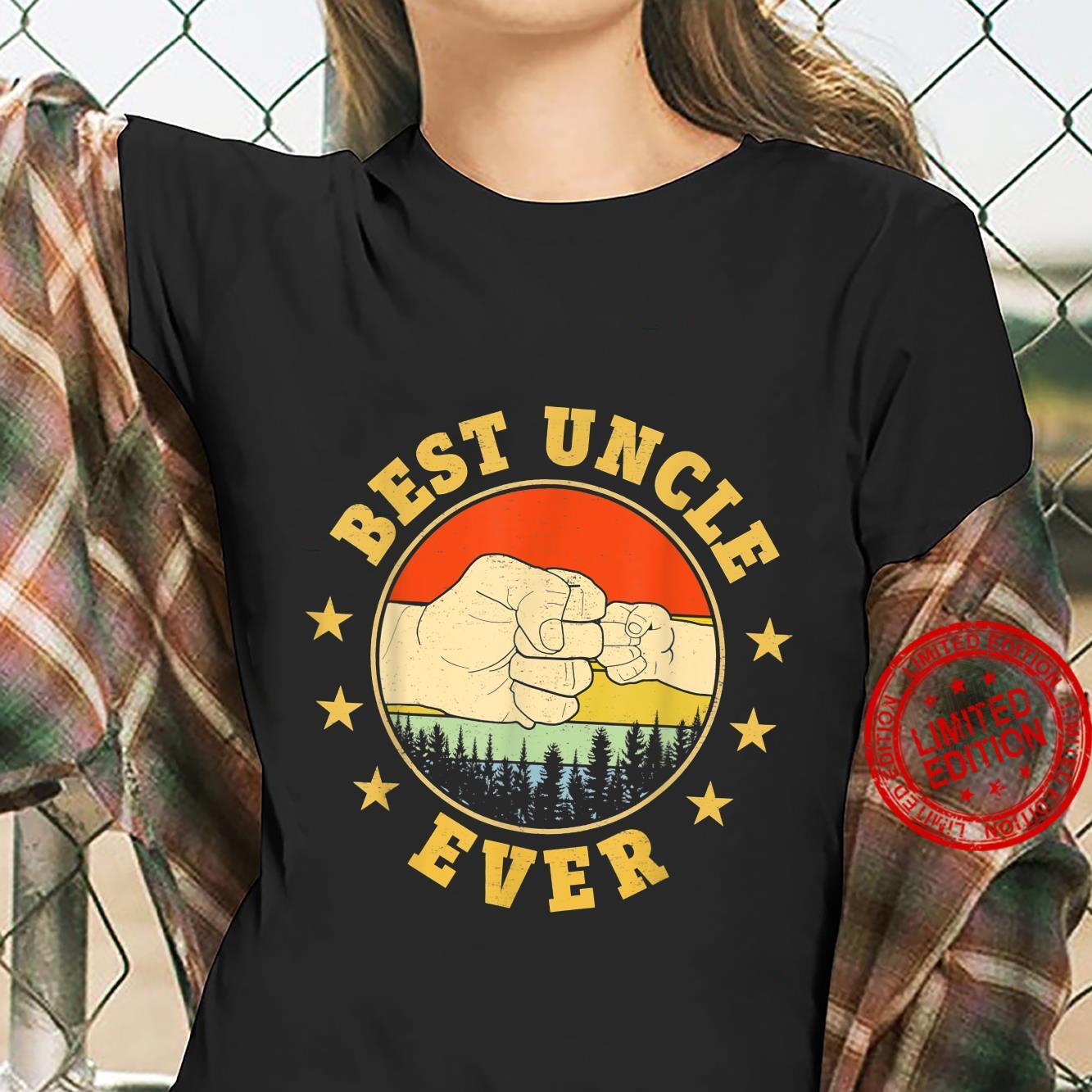 Funny Vintage Best Uncle Ever FistBump Fun Uncle Shirt ladies tee