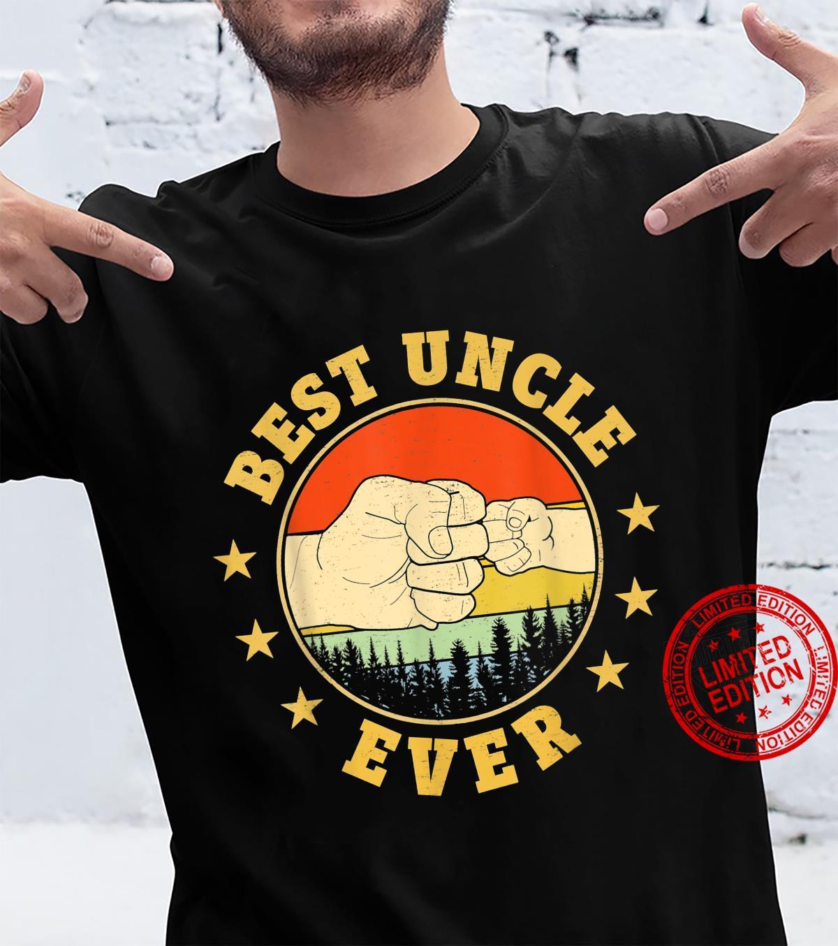 Funny Vintage Best Uncle Ever FistBump Fun Uncle Shirt