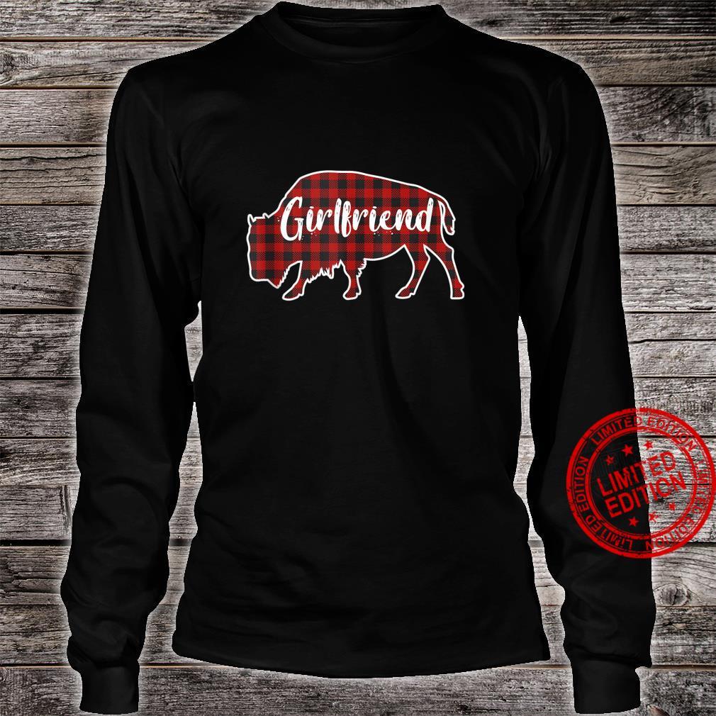 Girlfriend Bison Buffalo Red Plaid Christmas Pajama Family Shirt long sleeved