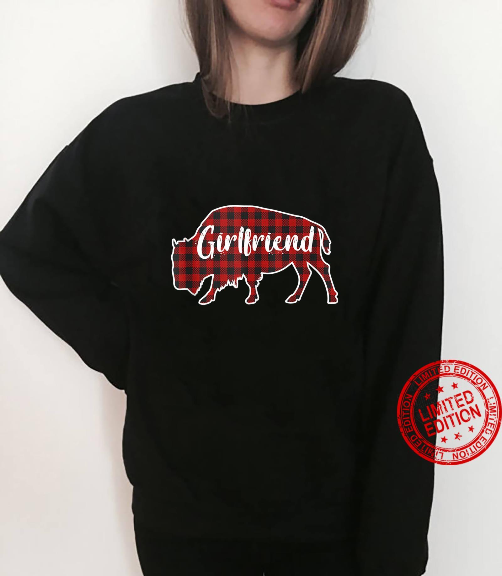 Girlfriend Bison Buffalo Red Plaid Christmas Pajama Family Shirt sweater