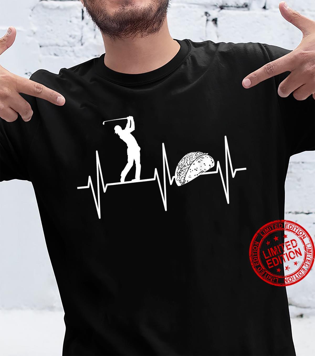 Golfing Shirt Taco Golf Heartbeat Golfer Shirt