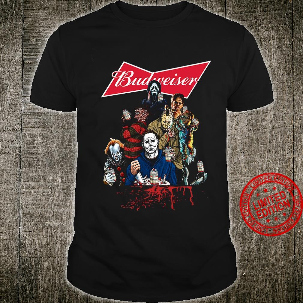 Horror Movie Character And Budweiser Shirt