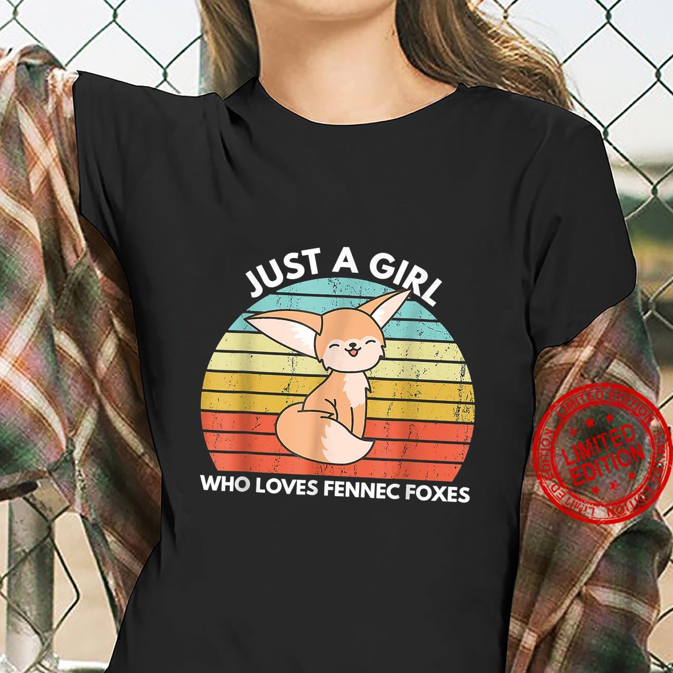 Just A Girl Who Loves Fennec Foxes Cute Fennec Fox Kawaii Shirt ladies tee