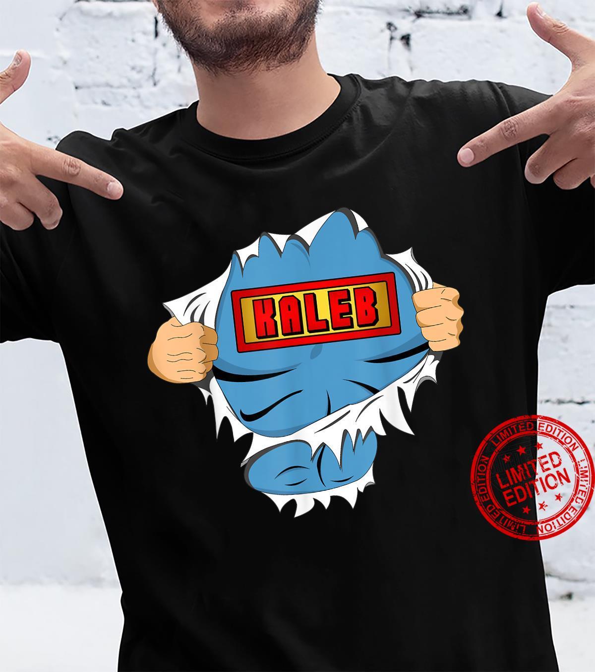Kaleb First Name Superhero Named Kaleb Shirt