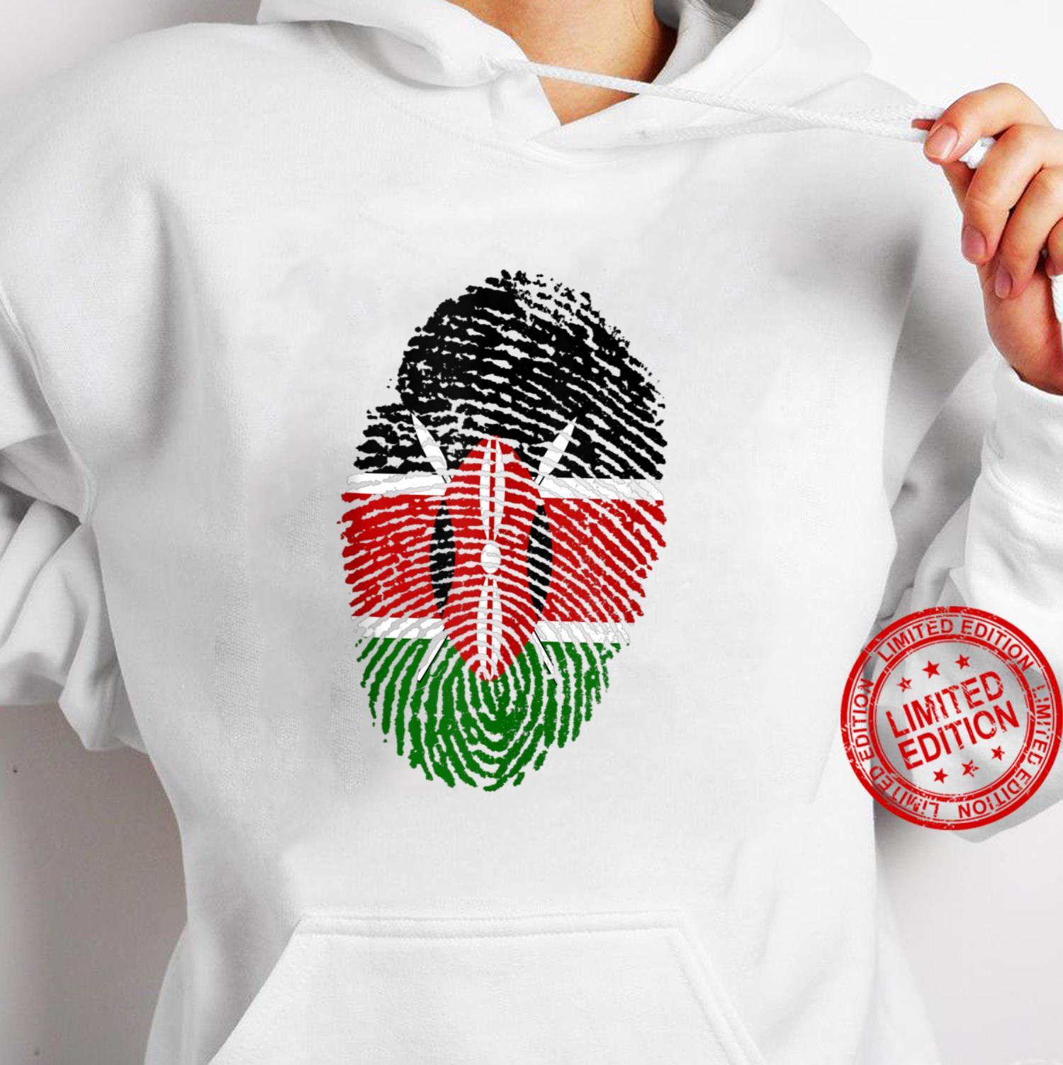 Kenya Flag Fingerprint Shirt hoodie