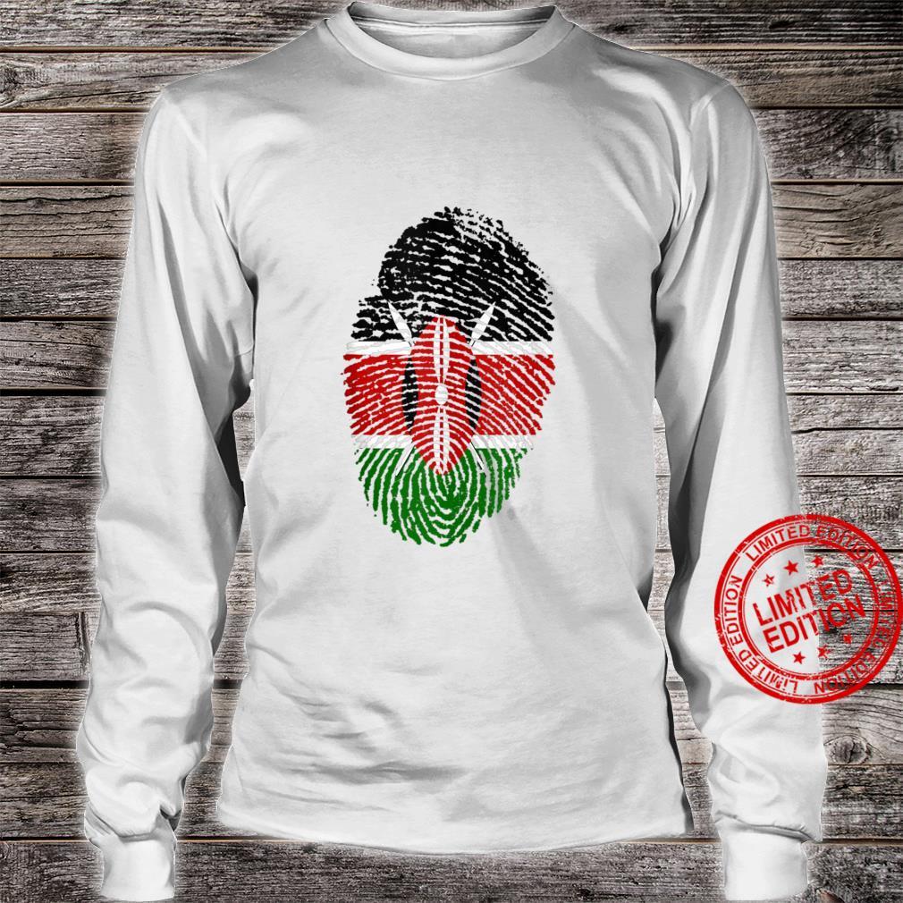 Kenya Flag Fingerprint Shirt long sleeved