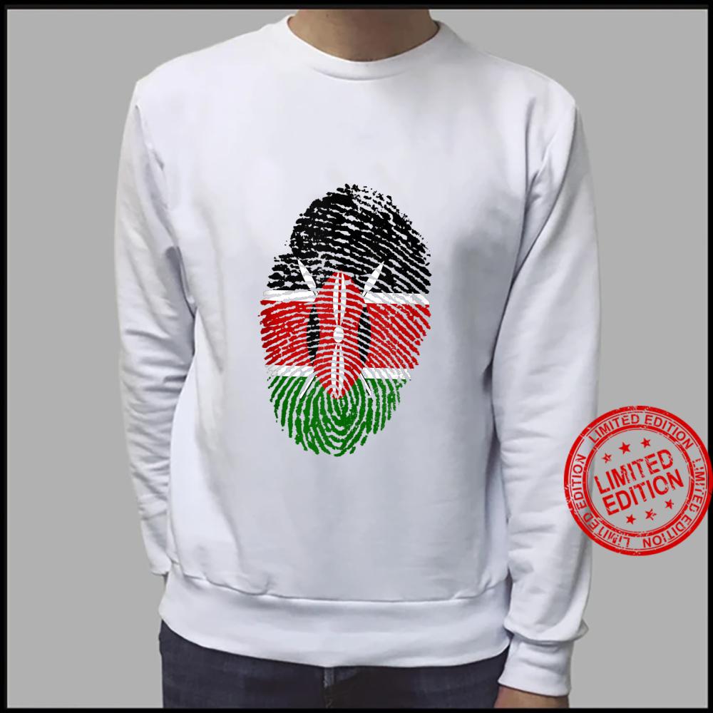 Kenya Flag Fingerprint Shirt sweater