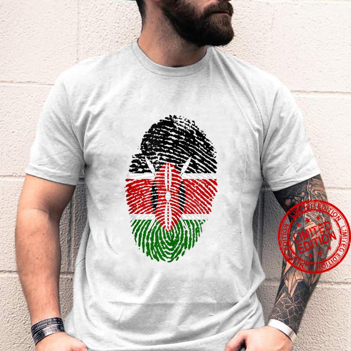 Kenya Flag Fingerprint Shirt