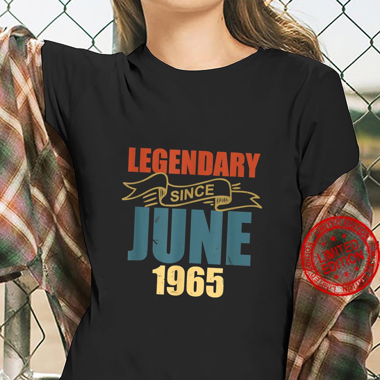 Legendary Since June 1965 56 Years Old Birthday 56th Bday Shirt ladies tee