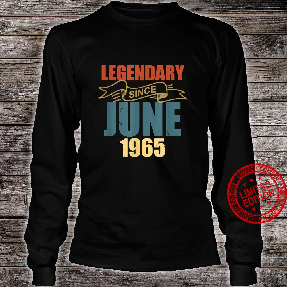 Legendary Since June 1965 56 Years Old Birthday 56th Bday Shirt long sleeved