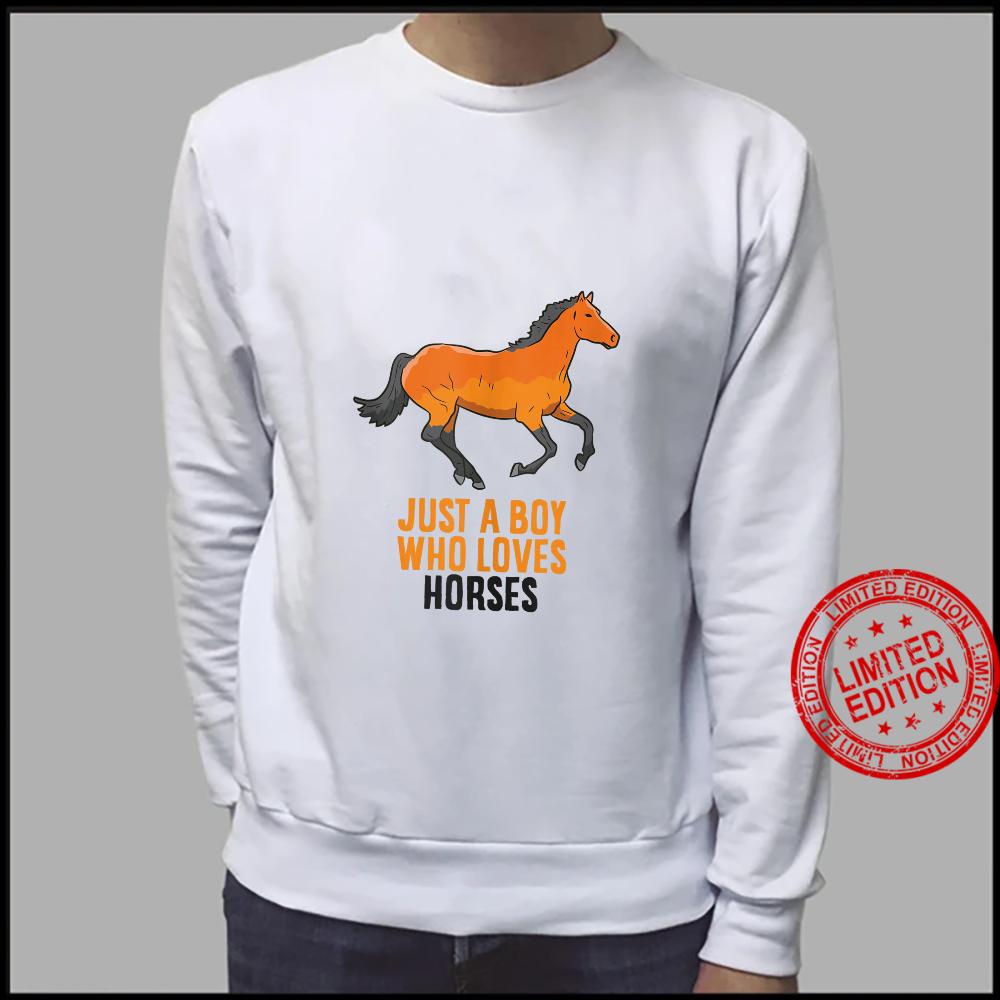 Mens Horse Boy Just A Boy Who Loves Horses Horseback Riding Shirt sweater