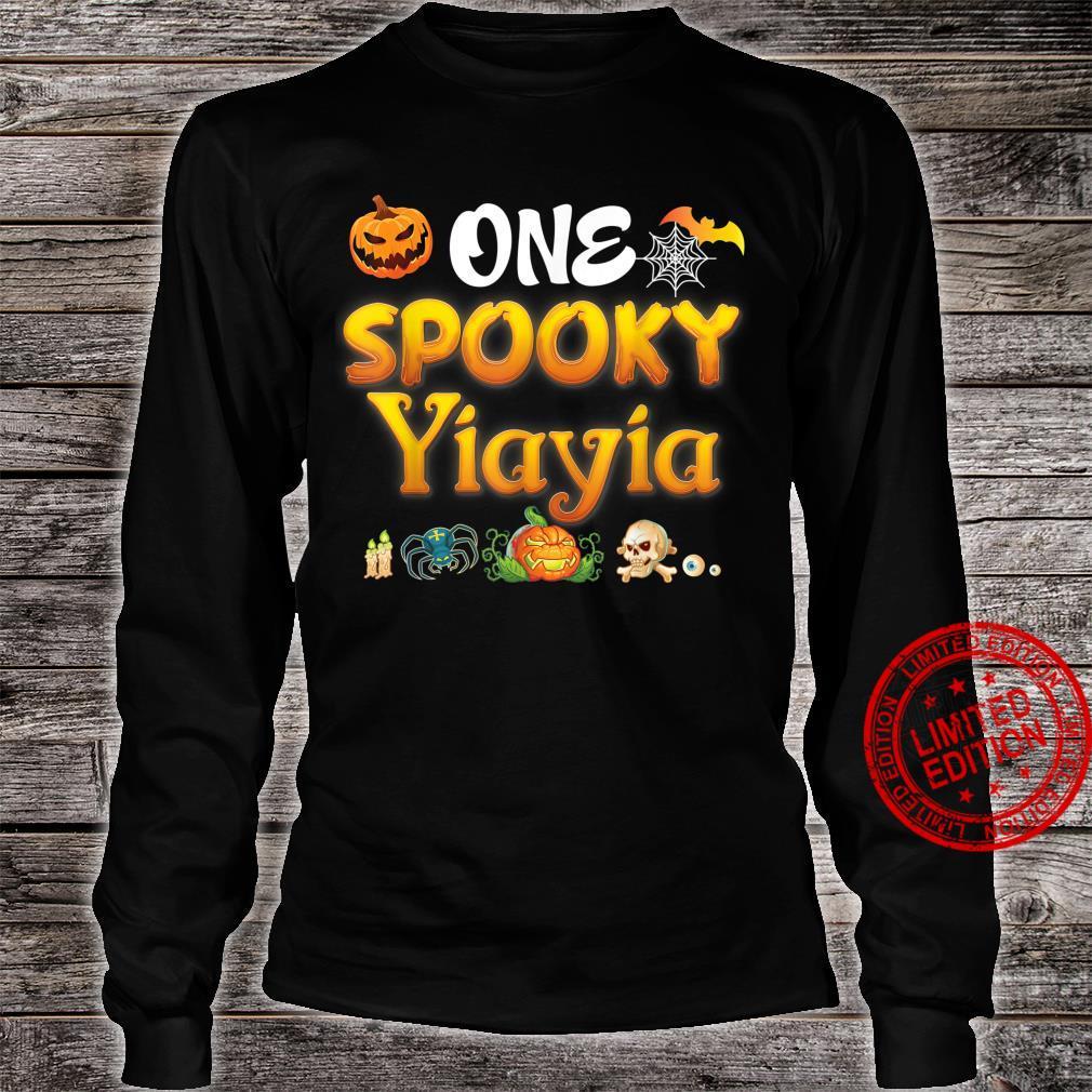 One Spooky Yiayia Scary Pumpkin Horor Halloween Ghost Creepy Shirt long sleeved