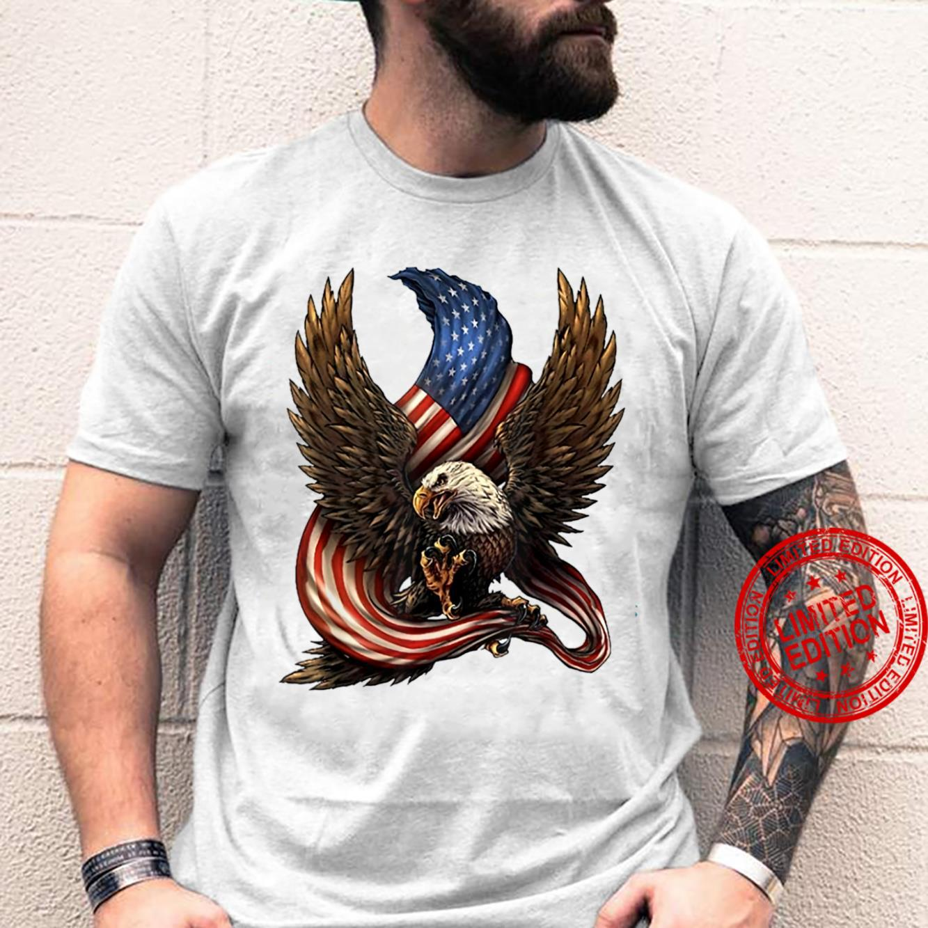 Patriotic Eagle USA American Flag 4th Of July Shirt