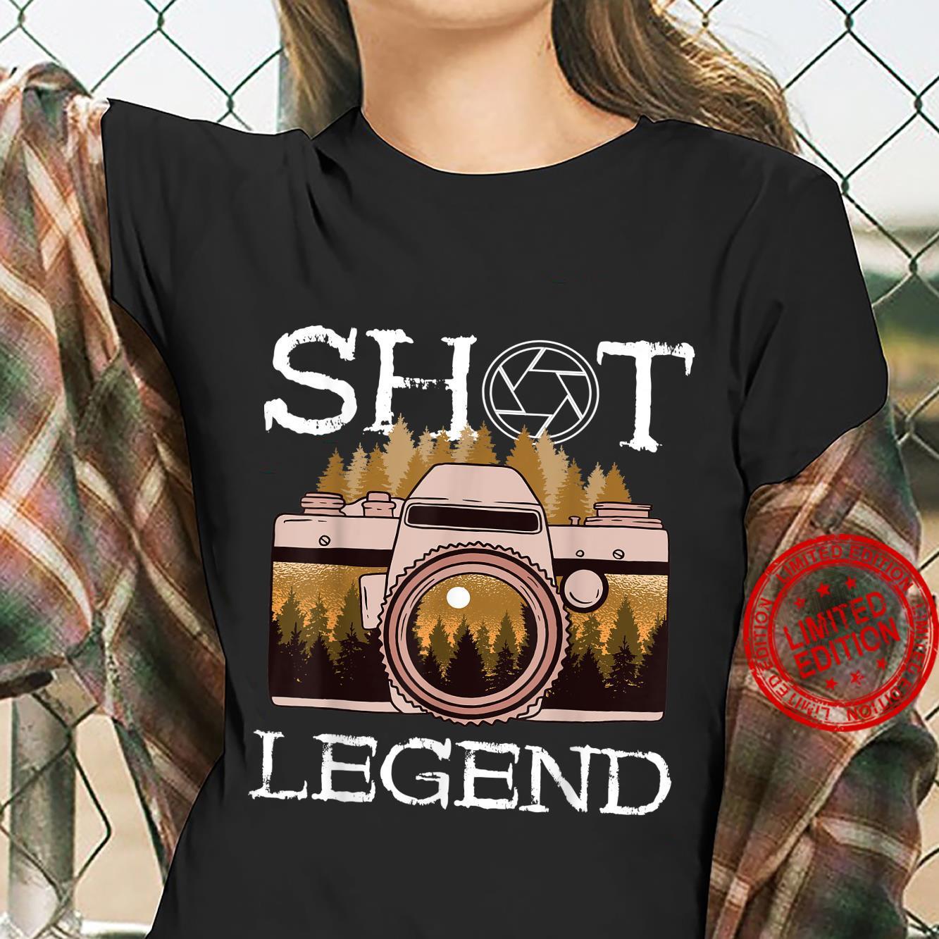 Photography Shot Legend Photographer Camera Lens Landscape Shirt ladies tee