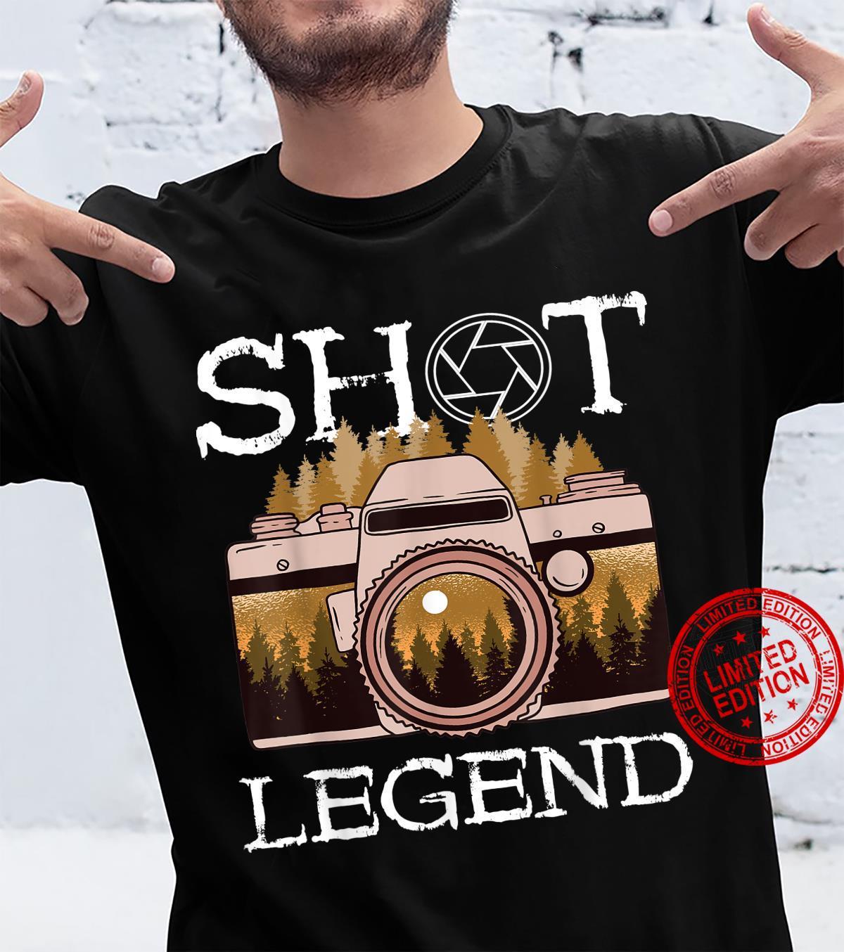Photography Shot Legend Photographer Camera Lens Landscape Shirt
