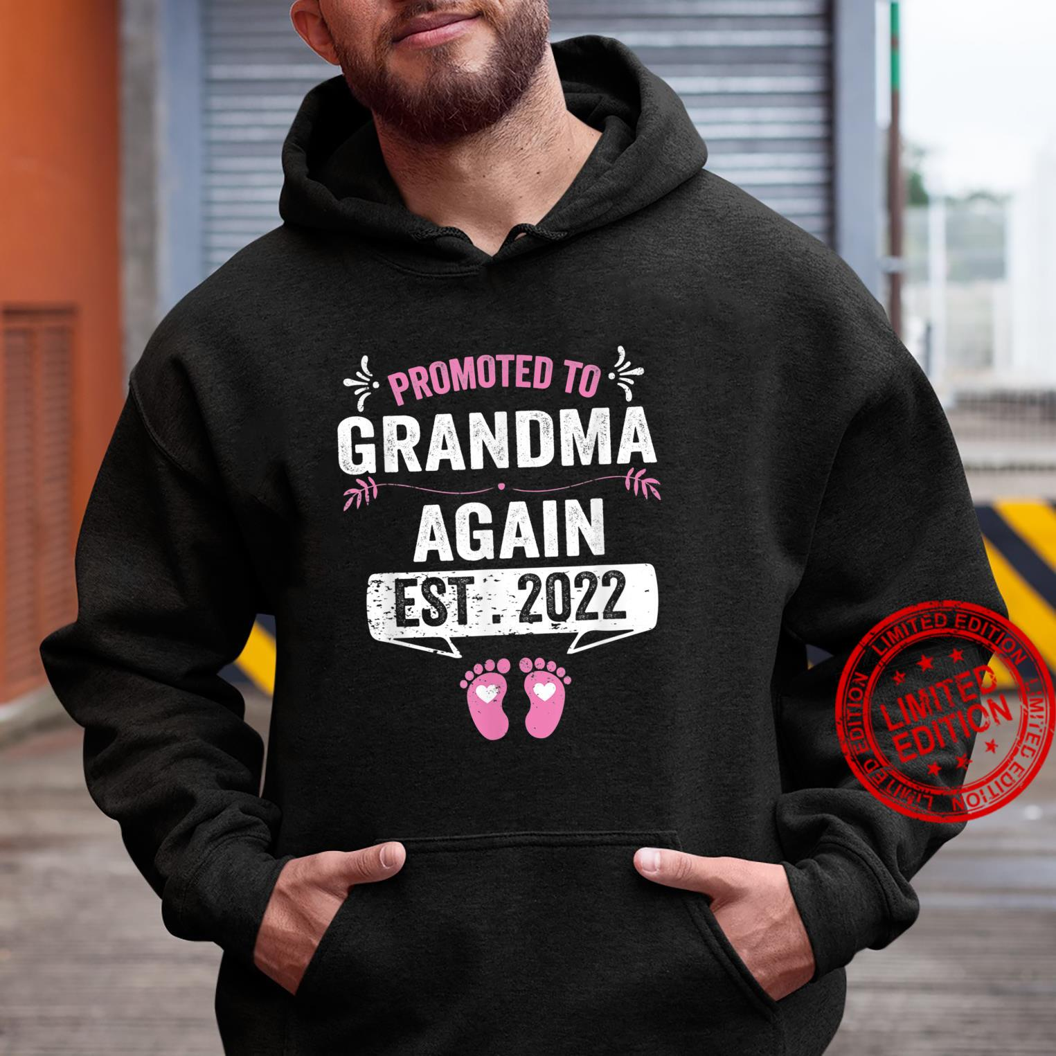 Promoted To Grandma Again EST 2022 Pregnancy Announcement Shirt hoodie