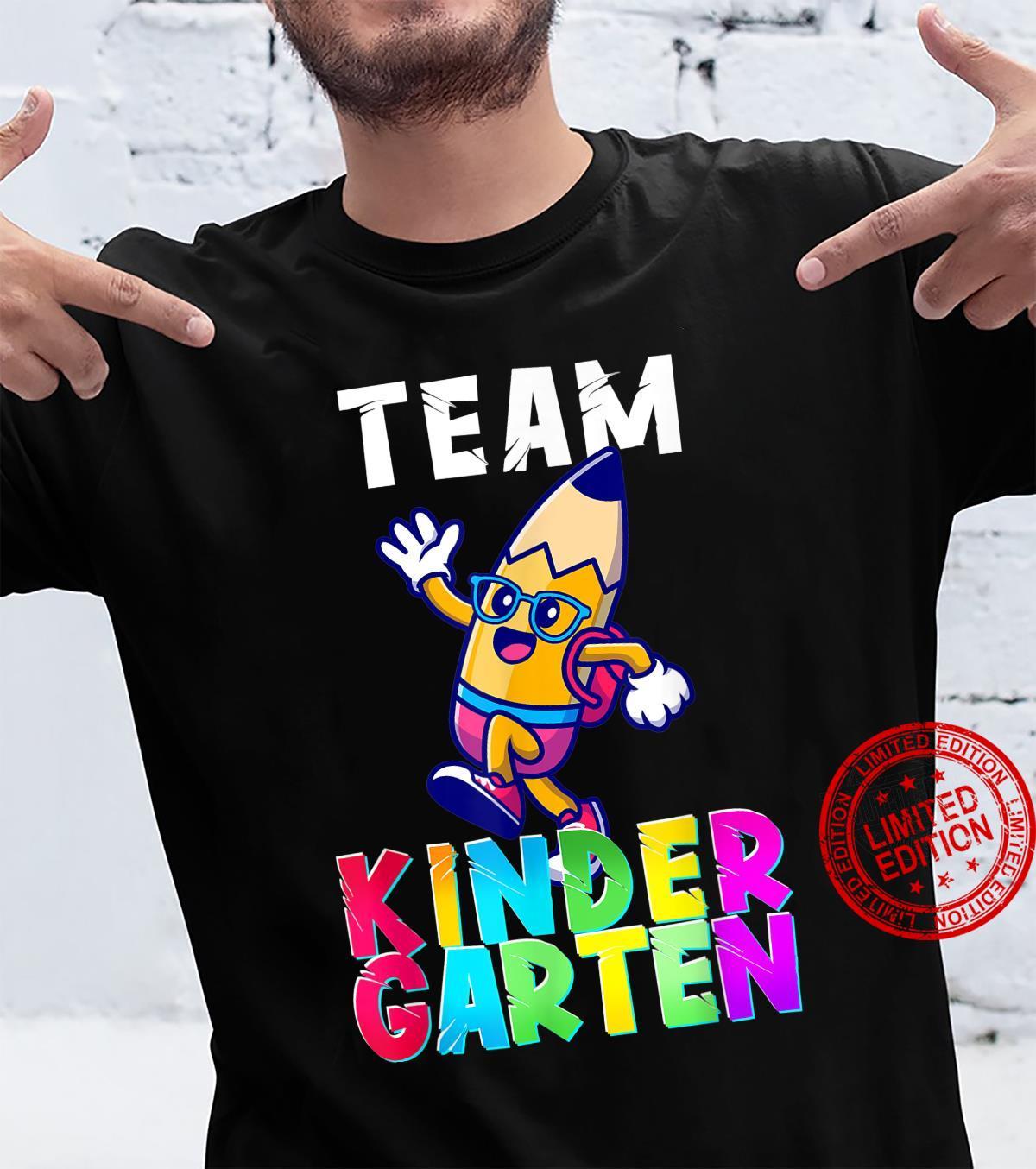 Team Kindergarten Teacher Student Back To School Shirt
