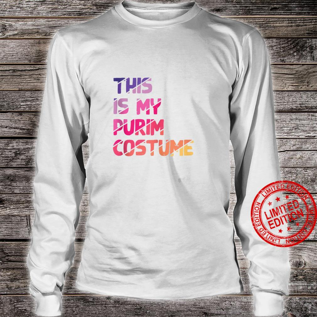 This Is My Purim Costume Vintage Jewish Holiday Shirt long sleeved