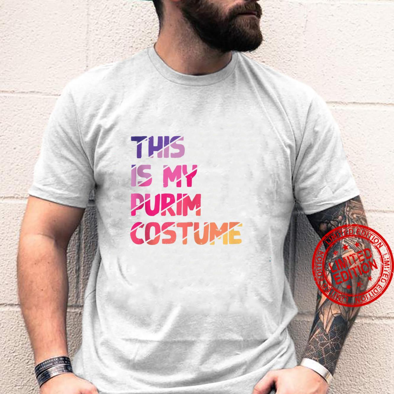 This Is My Purim Costume Vintage Jewish Holiday Shirt