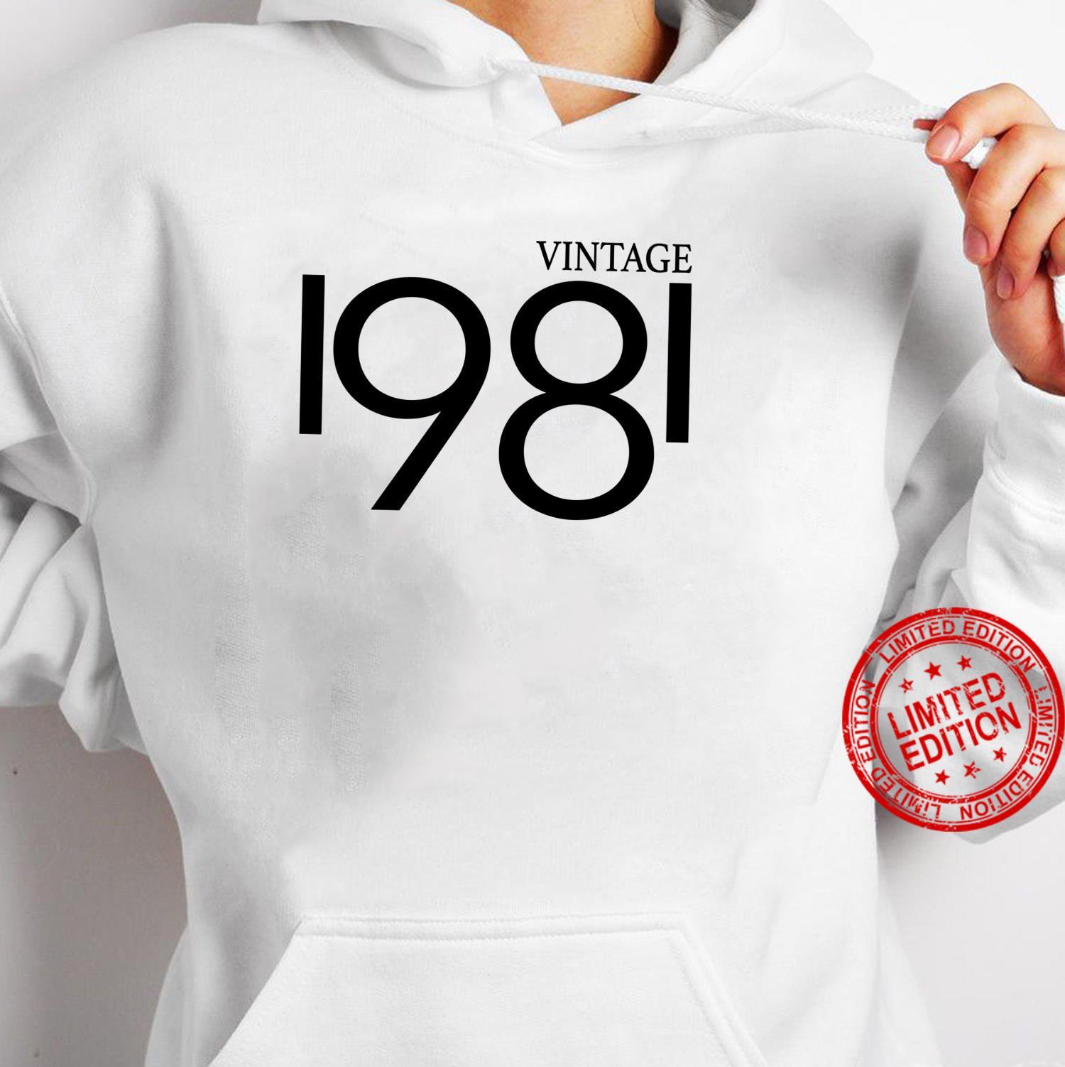 Vintage 1981 Shirt Birthday 80's Shirt hoodie