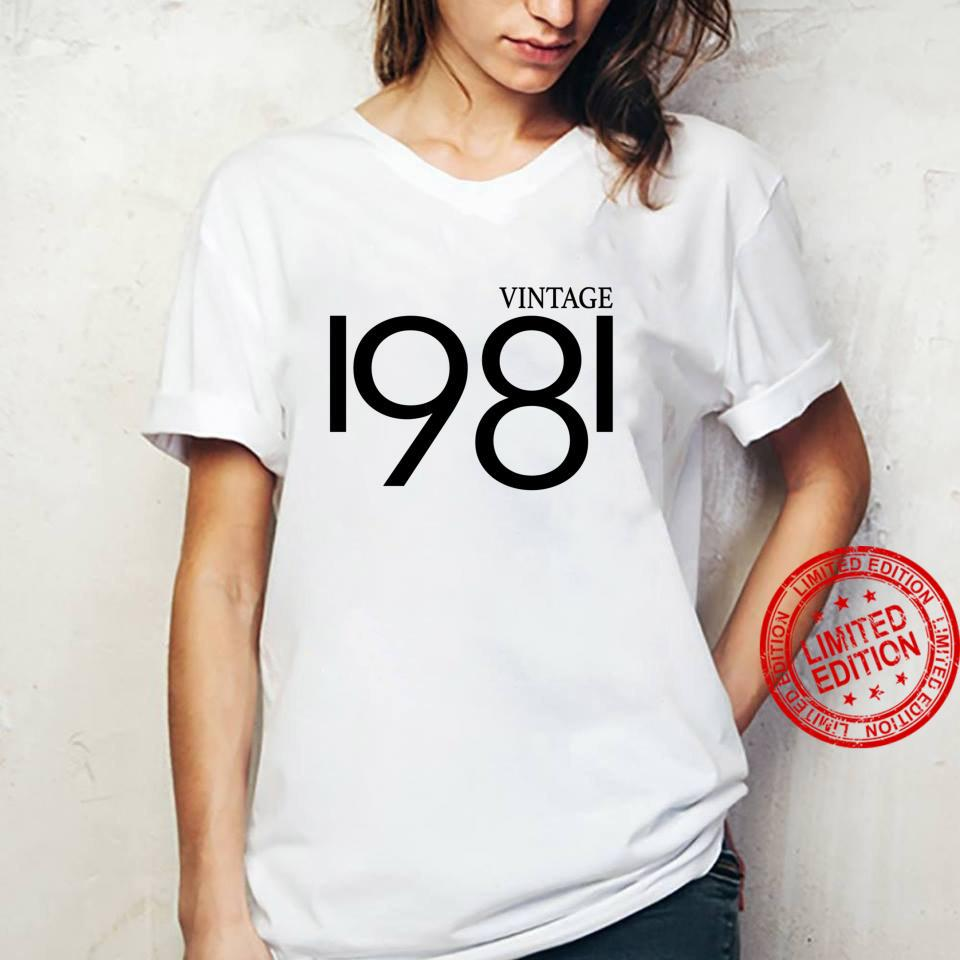 Vintage 1981 Shirt Birthday 80's Shirt ladies tee