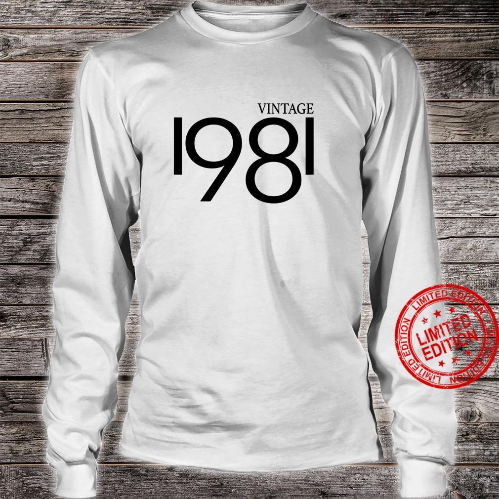 Vintage 1981 Shirt Birthday 80's Shirt long sleeved