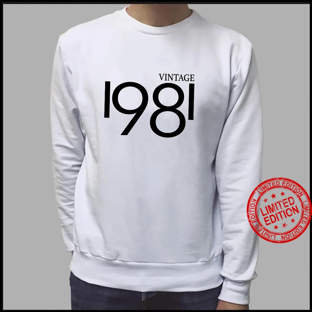 Vintage 1981 Shirt Birthday 80's Shirt sweater