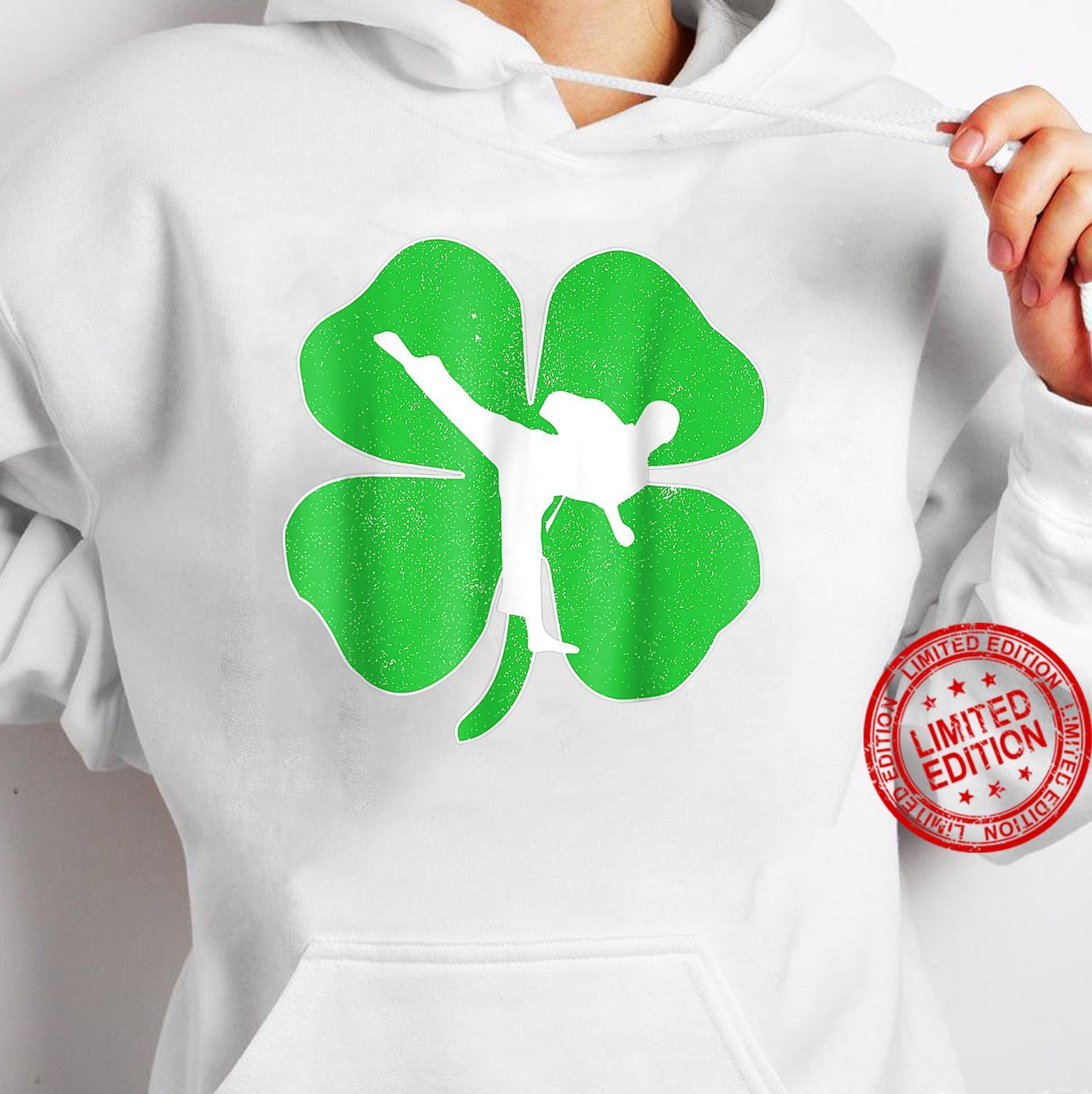 Vintage Karate Shamrock Karate Irish St Patricks Day Shirt hoodie