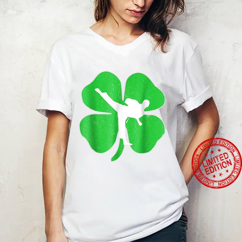 Vintage Karate Shamrock Karate Irish St Patricks Day Shirt ladies tee