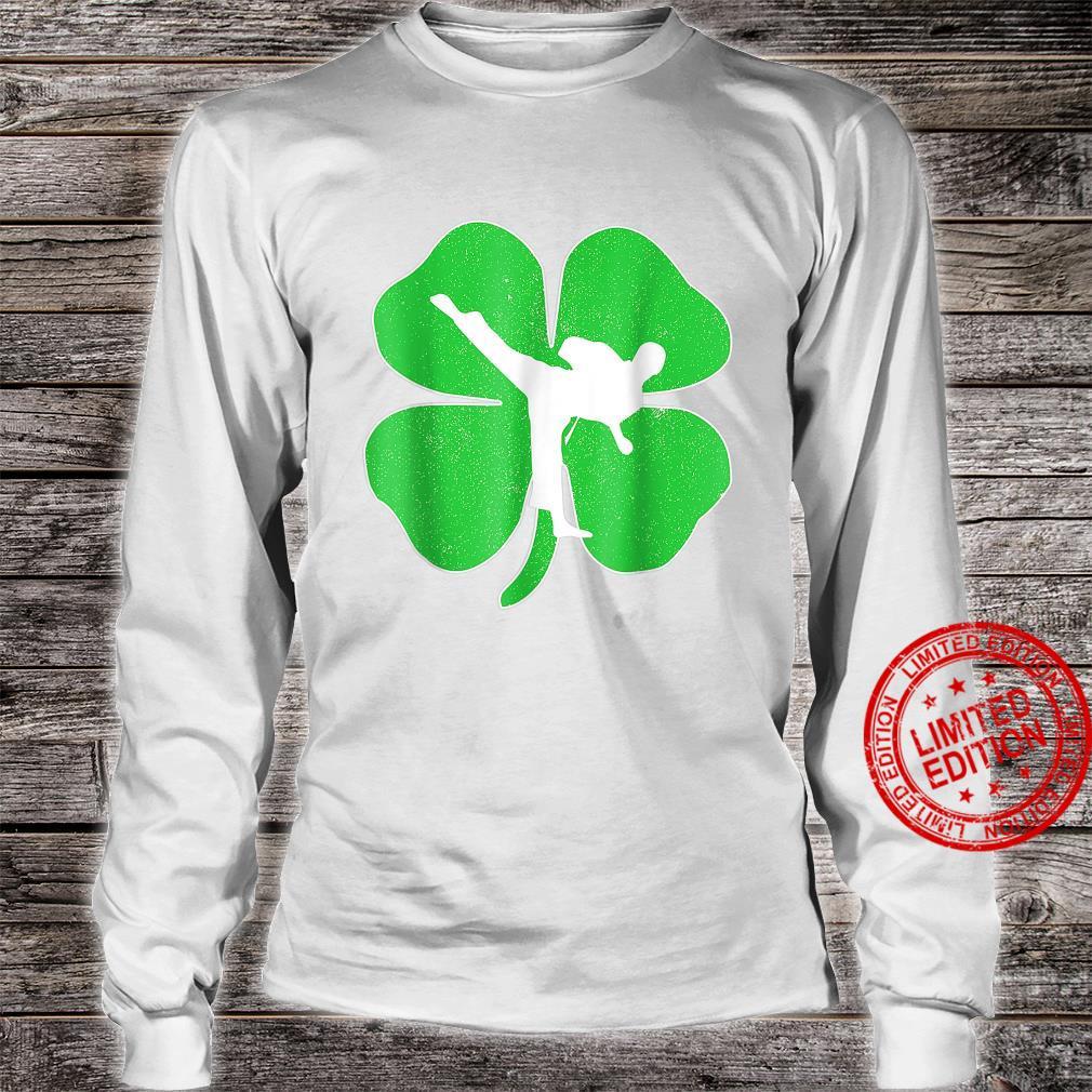 Vintage Karate Shamrock Karate Irish St Patricks Day Shirt long sleeved